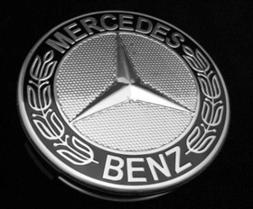 Mercedes Benz Black Star and Laurel Center Cap