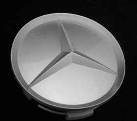 Silver Mercedes Benz Center Cap  OE Silver Mercedes Benz Center Cap, Mercedes Benz Silver Center Cap, Mercedes Silver Center Cap, Mercedes Chrome Center Cap, Mercedes Benz Chrome Center Cap, Mercedes Benz OE Center Cap