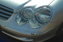 Mercedes Benz SL-Class Chrome Headlight Rings 03 & Up Mercedes Benz SL-Class Chrome Headlight Rings 03 & Up