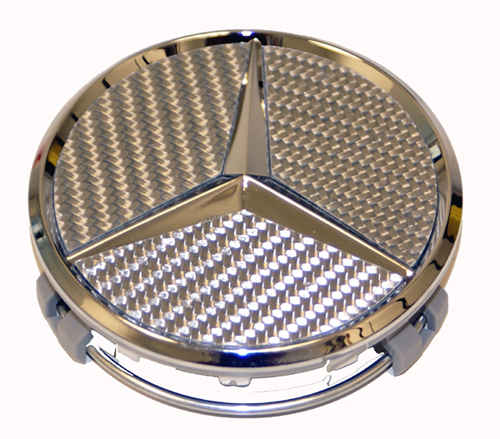 Silver Carbon Center Cap for Mercedes Benz Cars
