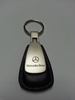 Mercedes Benz Black Leather Teardrop Keychain