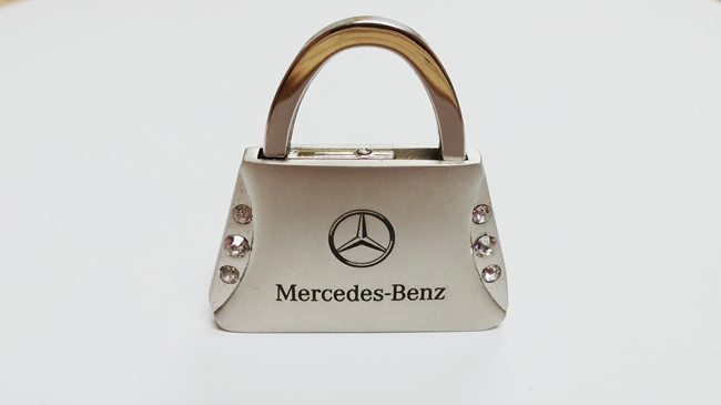 mercedes benz purse keychain