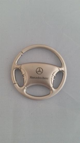 Mercedes benz silver steering wheel keychain cg 3018 for Mercedes benz keychain