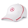Mercedes Benz Womens White Cap with Pink Trim