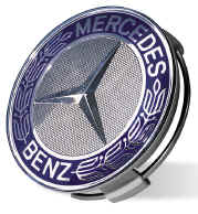 Mercedes benz blue star and laurel center cap for Mercedes benz center cap