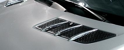 Chrome hood fins gl for Mercedes benz gl450 chrome accessories