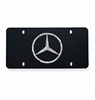 Mercedes Black Plate Chrome Star